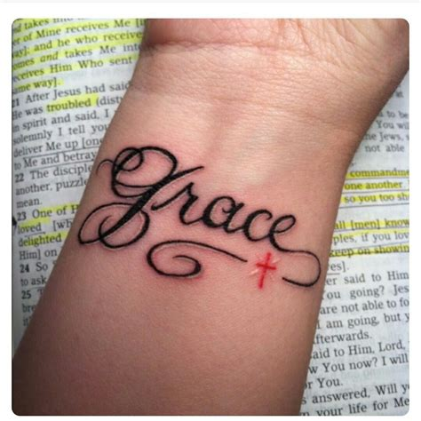 grace wrist tattoo pin by alvey on tatoo tatoos