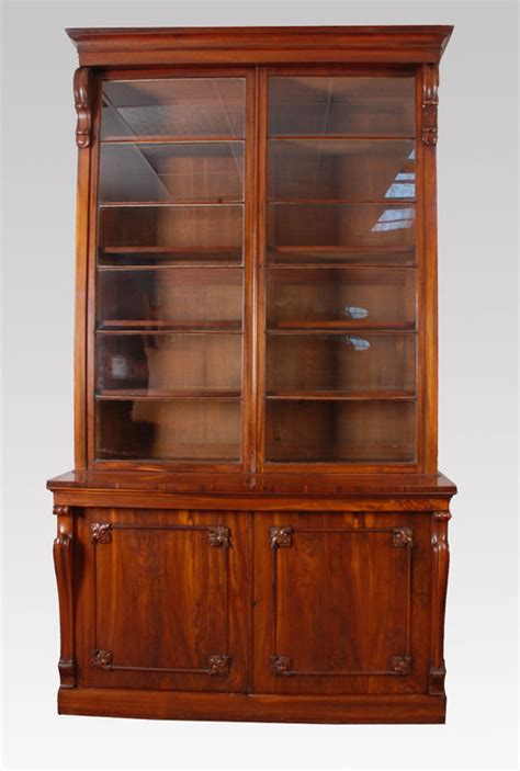 goncalo alves two door library bookcase for sale
