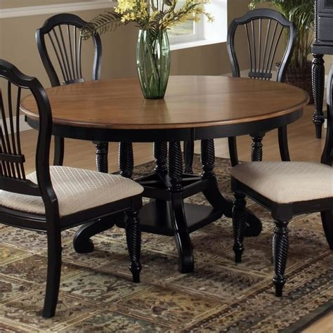 Casual Dining Table And Chairs Hillsdale Wilshire Casual Dining Table In Black And Pine Finish 4509dtbrnd