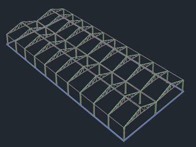greenhouse workshop   dwg model  autocad
