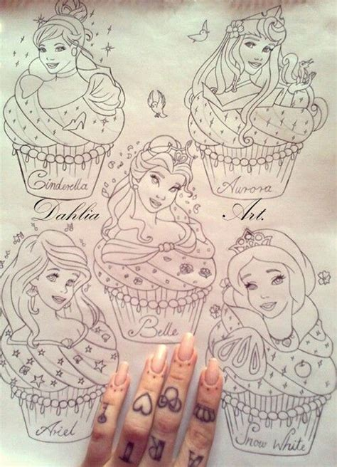 disney princess cupcake design ideas tattoos