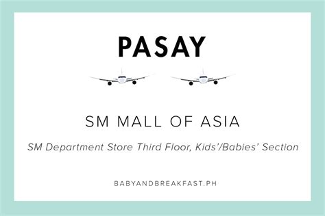 sm department store baby section breastfeeding stations in malls philippines mommy family