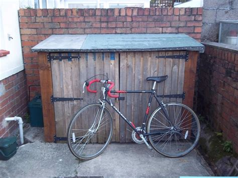 How To Make A Bike Shed by Bike Shed Crate From Pallets Lowimpact Orglow