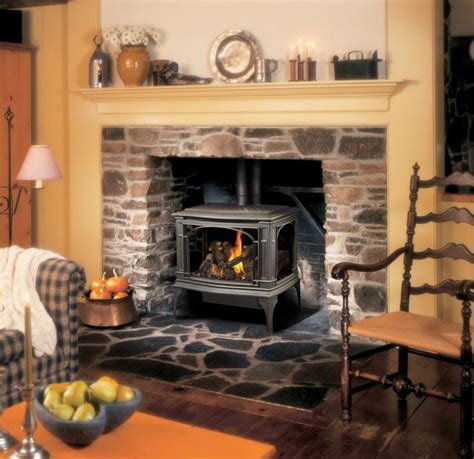 Travis Fireplace by Lopi Greenfield Greensmart Gas Stove Traditional