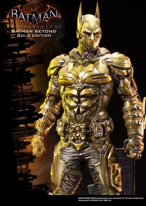 Batman The Golden batman arkham batman beyond statue gold edition
