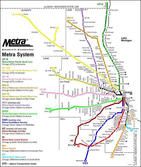 chicago light map metra rail map chicago illinois chicago via charleston