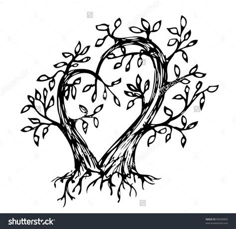 intertwined tree clipart clipart collection two trees