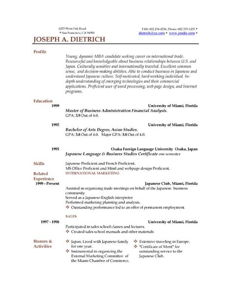 resume in word format for free 85 free resume templates free resume template downloads