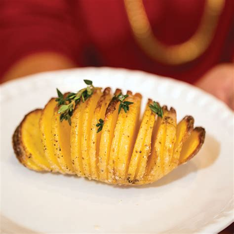 hasselback potatoes recipe cooking  paula deen