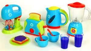 Play Kettle And Toaster Set Just Like Home Kitchen Appliance Set Playset Blender Mixer