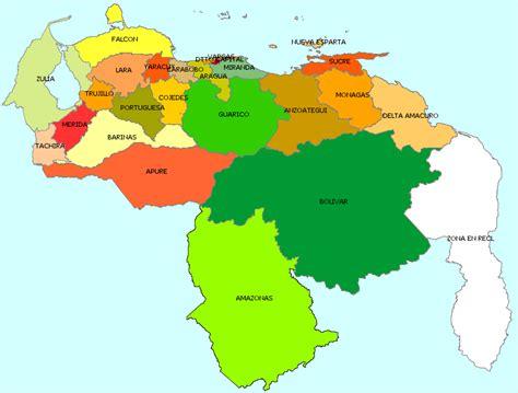 imagenes de venezuela en el mapa mapa politico de venezuela