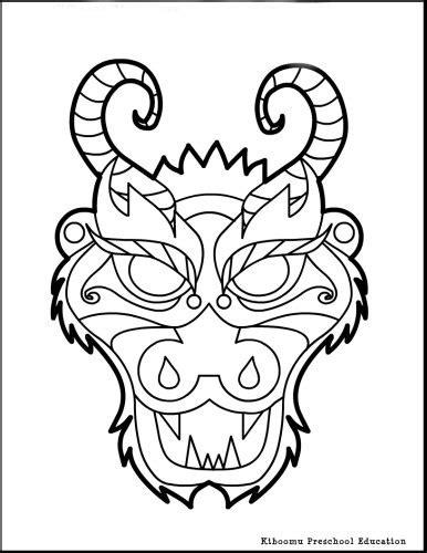 printable masks dragon chinese new year horse crafts chinese new year dragon