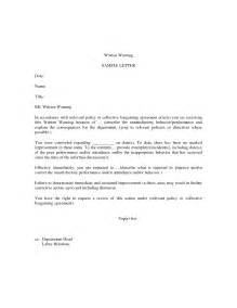 Letter Of Reprimand Template by Best Photos Of Attendance Written Warning Template
