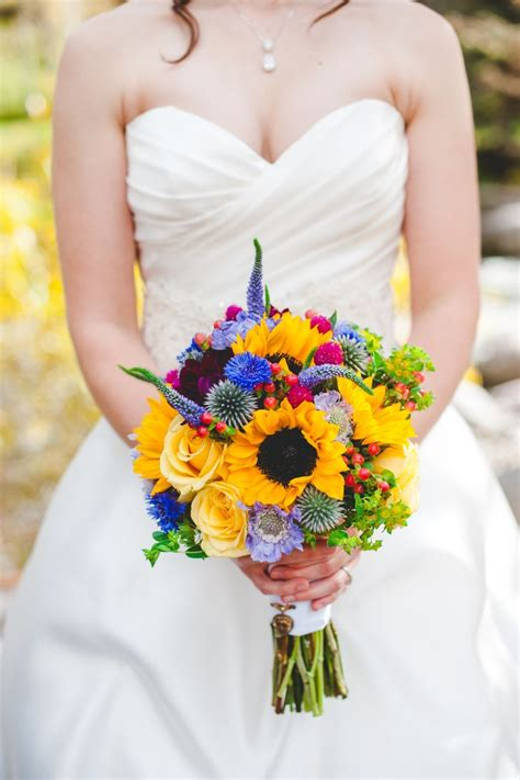 Wedding Bouquets Bc by Yellow Wildflower Inspired Bridal Bouquet