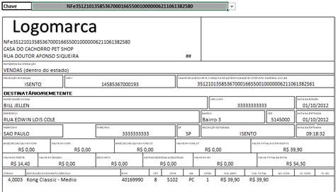 layout de nf e planilha nfe xml importar dados de nf e no excel