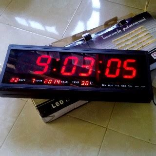 Jam Led Digital Tl 4819 jam dinding digital besar ht 4819 sm ical store ical store