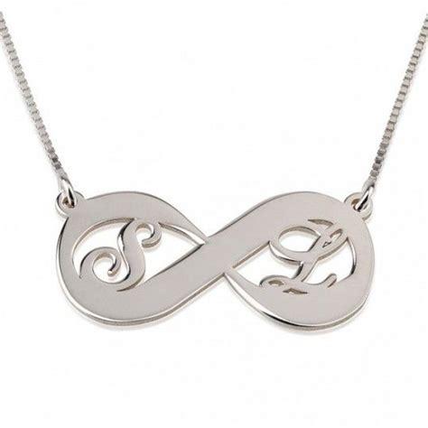 cadenas de plata para mujer con iniciales collares con dijes de plata