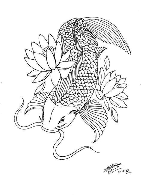 my koi carp lotus tattoo design 3 by shannonxnaruto