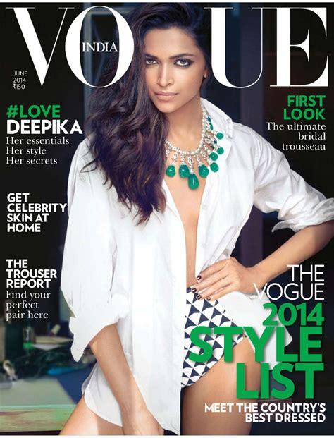 Vogue Indias Issue deepika padukone vogue magazine india june 2014 issue