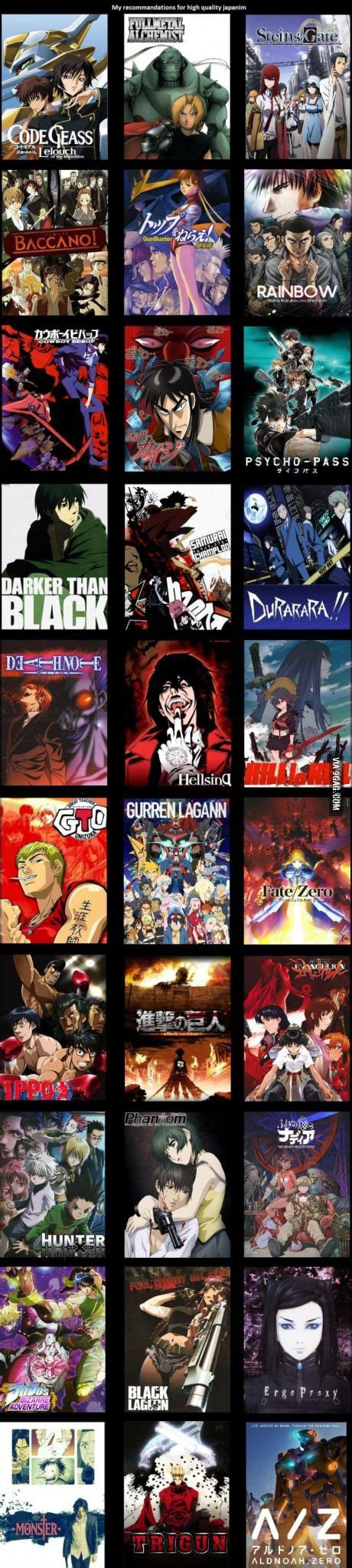 P Anime List by 25 Best Ideas About List Of Anime Shows On
