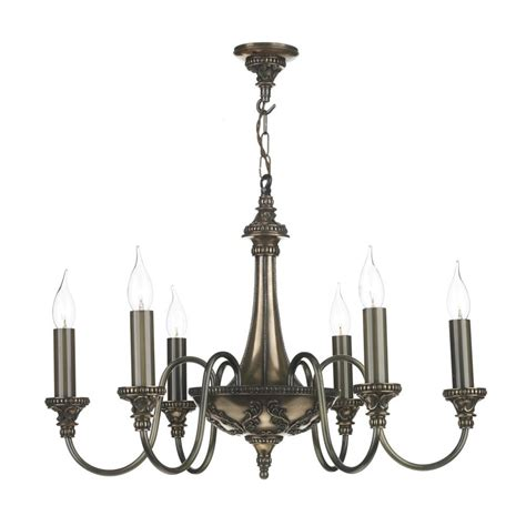 Artisan Chandelier Bronze Chandelier 6 Candle Lights Georgian Or Regency Ceiling Light