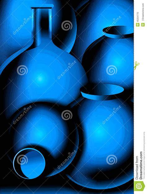 blue mood paint color pots stock illustration image 45254770