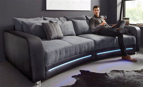 how big is a couch big sofa inklusive rgb led beleuchtung kaufen otto