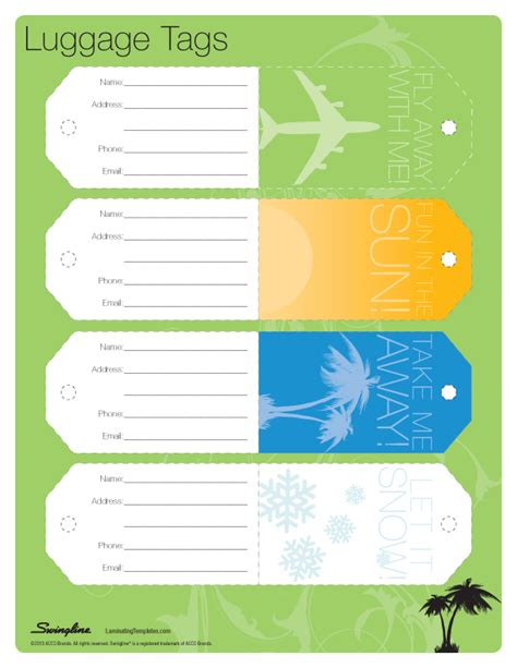 luggage tag template vintage luggage tags template free