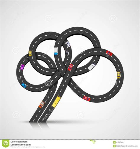 creative road design elements vector brain road location stock vector image 61347939