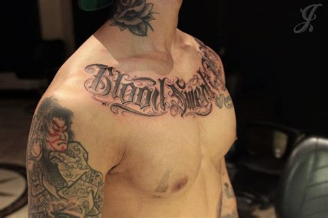 blood sweat and tears tattoo johnny opina get busy living or get busy dying