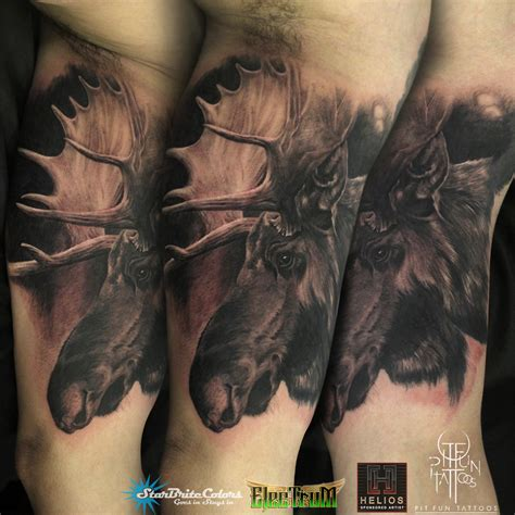 moose tattoos bull moose www pixshark images galleries