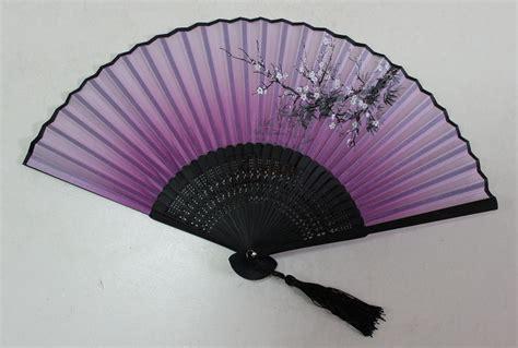 silk folding hand fans asian silk hand fans