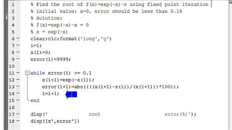 fixed point iteration method to find the root of the