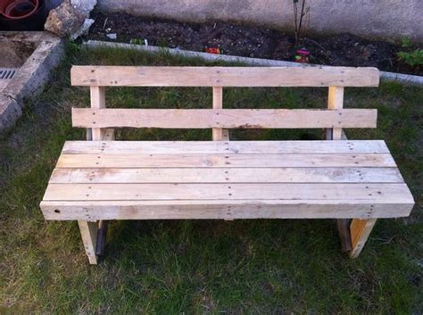 building a bench out of pallets wooden pallet garden bench plans pallet wood projects