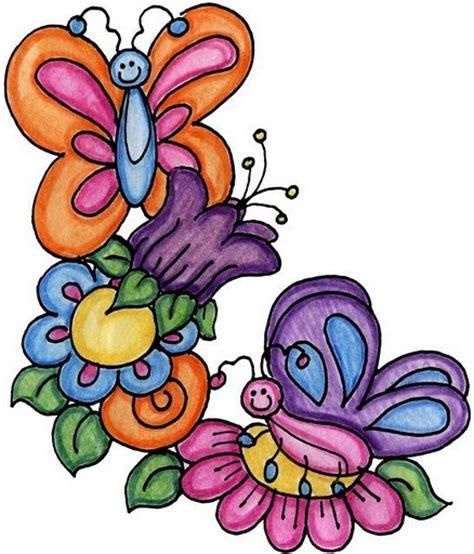 imagenes de mariposas y flores para imprimir dibujos de flores y mariposas para colorear imagui