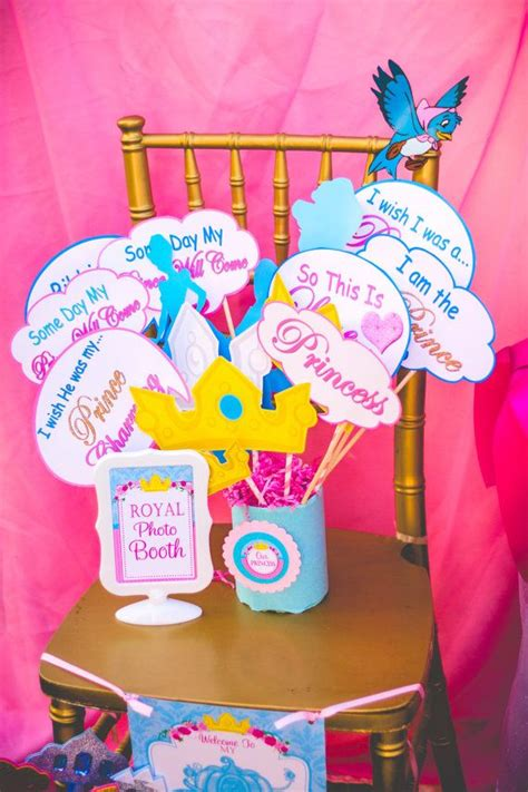 cinderella printable party decorations cinderella birthday photo props cinderella printables