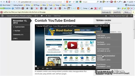 tutorial wordpress cara tutorial wordpress cara embed menilkan video youtube