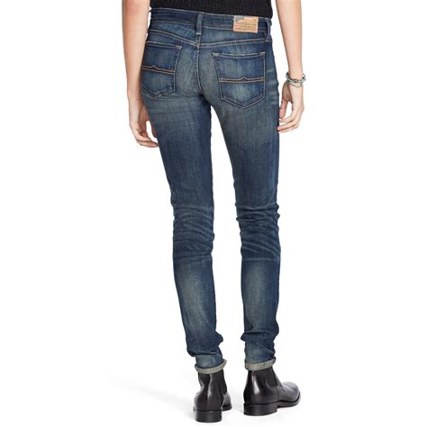 2016 bootcut jeans in or out denim supply ralph lauren skinny bootcut jean in blue lyst