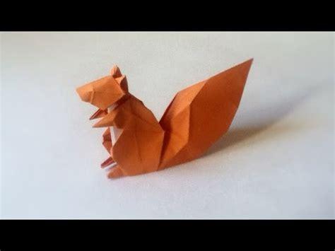 Origami Squirrel - origami squirrel tutorial hideo komatsu