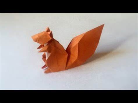 origami squirrel tutorial hideo komatsu