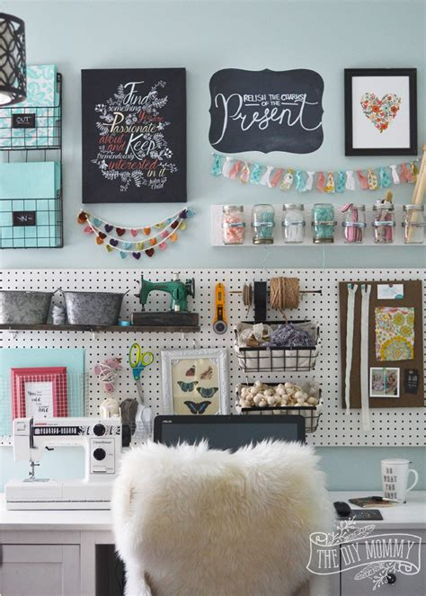 Office Wall Decor A Craft Room Office Pegboard Gallery Wall With Tour