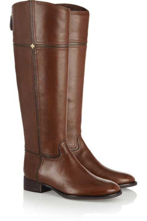 burch boots burch juliet leather boots in brown lyst