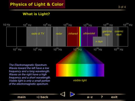 Violet Light Wavelength by Anatomy And Physiology Of The Eye Interactive Cd Rom