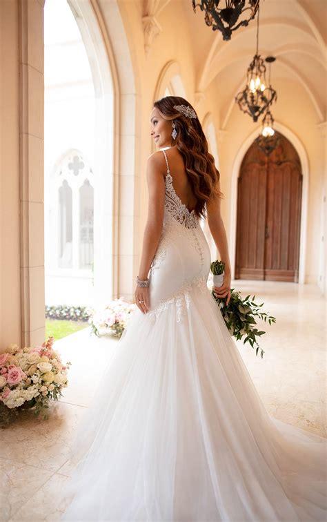 dramatic mermaid wedding dress  textured skirt