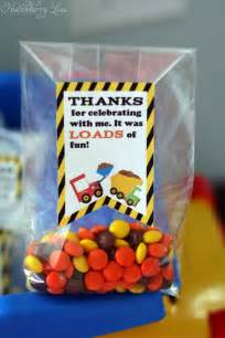 Construction Themed Birthday Favors by Huckleberry Construction Themed Birthday