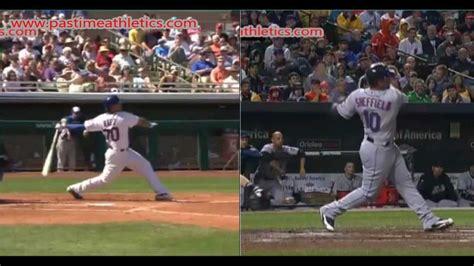 baseball swing speed javier baez and gary sheffield hitting mechanics