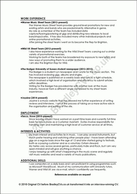Professional Cv Writing Sles by Bad Resumes Sles 28 Images Curriculum Vitae Best