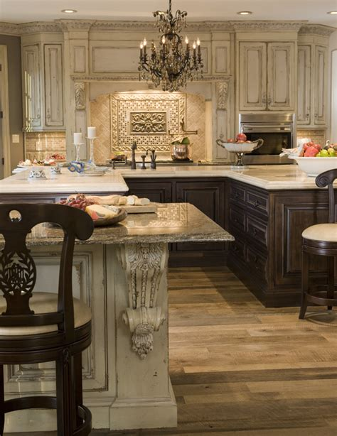 French Country Kitchen Backsplash by Habersham Kitchen Habersham Home Lifestyle Custom