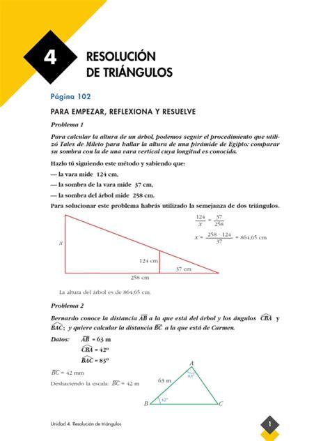 tema 4 procedimiento para calcular el calibre de los problemas resueltos tema 4 resolucion de triangulos 1