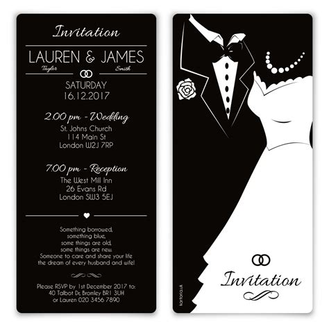 Wedding Invitation Card Version by Wedding Invitation Cards Black And White And Groom